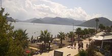 Playa central en el paseo marítimo - Webcam, Bodrum