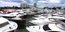 Atraque con barcos - Webcam, Miami