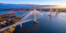Queensferry Crossing Puente atirantado - Webcam, Edimburgo