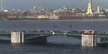 Puente del palacio - Webcam, San Petersburgo