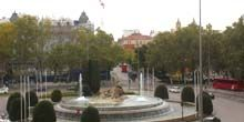 Fuente de Neptuno, Plaza Cortes - Webcam, Madrid