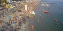 Playa en el pueblo de Iron Port - Webcam, Kherson