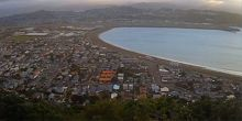 Lyoll Bay, panorama desde arriba - Webcam, Wellington