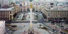 Plaza de la Independencia, Plaza Europea - Webcam, Kiev