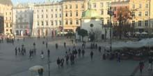 Plaza del mercado principal - Webcam, Cracovia
