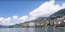 Panorama del paseo marítimo del lago Lemán - Webcam, Montreux