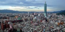 Panorama desde arriba - Webcam, Taipei