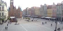 Ayuntamiento en la plaza central - Webcam, Wroclaw