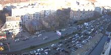 Tráfico en Red Banner Avenue - Webcam, Vladivostok