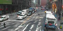 Wall Street y Water Street - Webcam, Nueva york