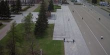 Plaza Central de los Soviets - Webcam, Barnaul